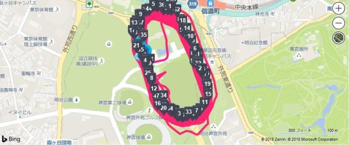 月例100マイル~神宮外苑24時間チャレンジ①